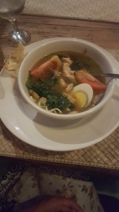 Balinese chicken noodle soup, to nurse a cold