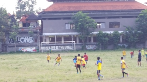 Some of the other kids playing soccer