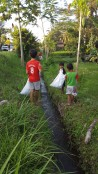 Such a beautiful sight, seeing the children learning the importance of proper waste disposal